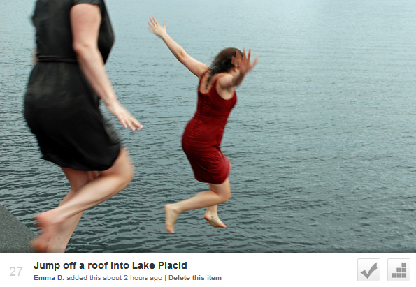 Jump off a roof into Lake Placid