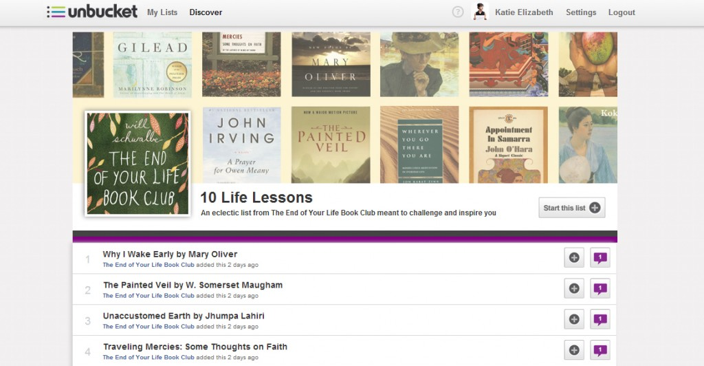 10 Life Lessons - The End of Your Life Book Club